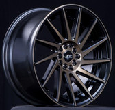 JNC051 Matte Black Machined Bronze Face 19x10.5 5x100/5x114.3 +30