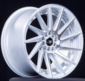 JNC051 Silver Machine Face /Gold Rivets 18x8.5 5x100/5x114.3 +35