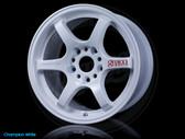 Gram Lights 57DR 15X8.0 +28 4-100 CHAMPION WHITE