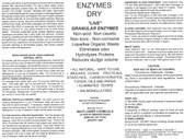 Powder Enzyme Bacteria Dry