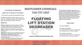 FLOATING LIFT STATION DEGREASER GRANULAR POWDER