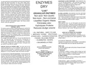 POWDER ENZYMES BACTERIA DRY CONCENTRATE