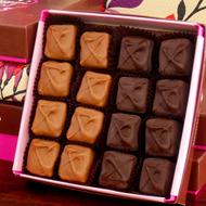 Handmade Milk and Dark dipped Peanut butter squares by Littlejohn's Candies