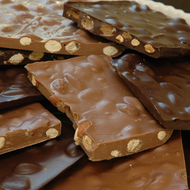 Handmade Almond Bark available in Milk Chocolate, Dark Chocolate and White Chocolate