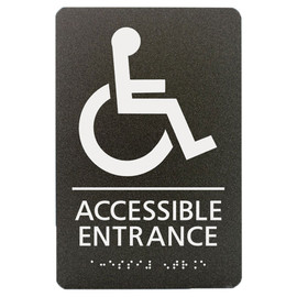 "Accessible Entrance - 8¾"" x 5¾"""