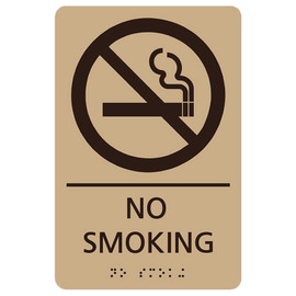 "No Smoking - 8¾"" x 5¾"""