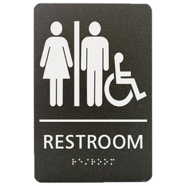 "Unisex Accessible Restroom - 8¾"" x 5¾"""