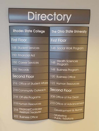 These Curved Directory Signs from Signs 4 Work are a great way to incorporate style into your wayfinding signage. Available in multiple sizes along with custom sizing options.