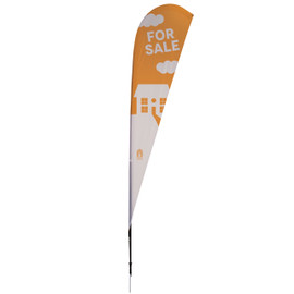 11.5' Streamline Teardrop Sail Sign Kit – Double-Sided with Spike Base