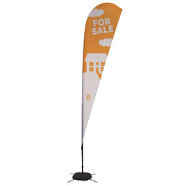 11.5' Streamline Teardrop Sail Sign Kit – Double-Sided with Scissor Base