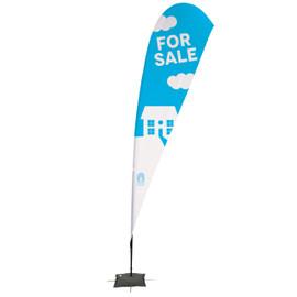 15' Streamline Teardrop Sail Sign Kit – Double-Sided with Scissor Base