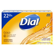Dial Antibacterial Deodorant Bar Soap Gold 4 oz - Pack of 22