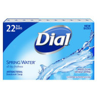 Dial Antibacterial Deodorant Bar Soap Spring Water 4 oz - Pack of 22