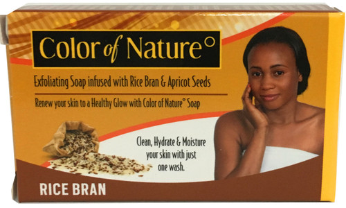 Color of Nature Exfoliating Rice Bran Soap 7 oz / 200 g