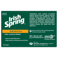 Irish Spring Original Deodorant Bar Soap 3.75 oz- 3 Pack Bar
