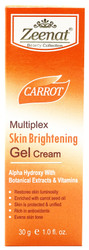Zeenat Carrot Multiplex Skin Brightening Gel Cream