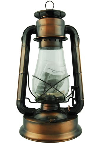 "Hurricane Oil Lantern 15"" Bronze Plated Vintage Style"