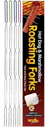 Campfire Hot Dog Marshmallow Roasting Forks Sticks 8 Pack