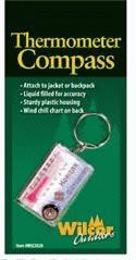 Zipper Pull Thermometer Compass 12 Pack