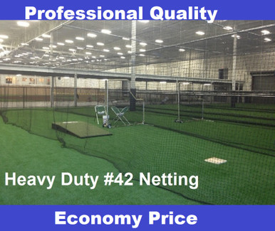 Baseball Batting Cage  54ply #42 Twine Heavy Duty Net Netting with Optional Door