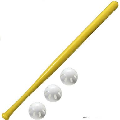 wiffle bat and 3 wiffle balls combo