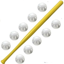 Wiffle bat and ball combo 10 balls and 1 bat