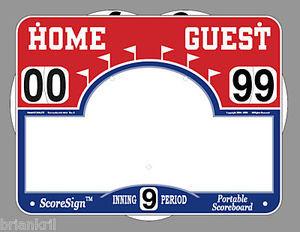Portable Scoreboard Scoresign