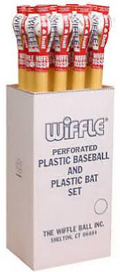 Wiffle ball and bat floor display case 1 dozen