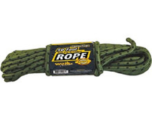 "camouflage utility rope 50ft 3/8"" braided"