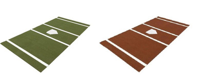 Baseball Home Plate Batting Cage Mats Green or Clay
