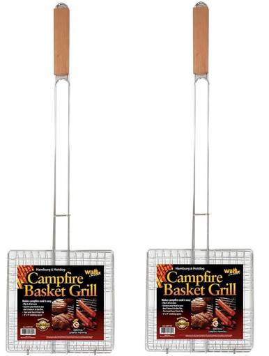 campfire basket grill 2 pack
