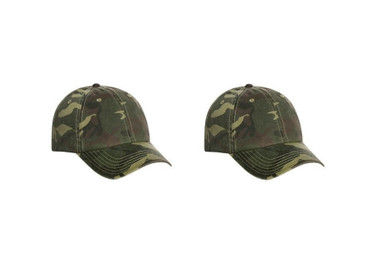 camo cap cotton twill 2 pack