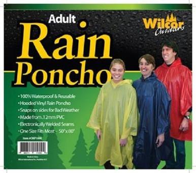 Rain poncho with hood