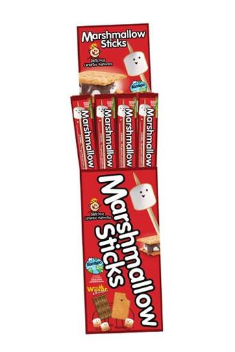 Marshmallow Sticks in Floor Display Case