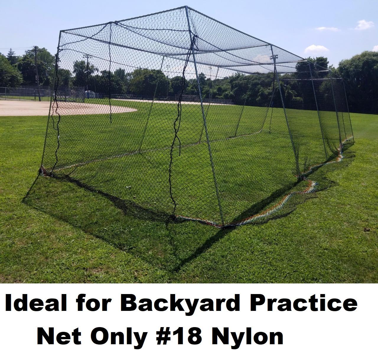 Backyard Baseball Batting Cage #18 Nylon Net Netting All ...