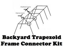 Backyard Baseball Batting Cage Frame Kit Trapezoid Light Duty for #18 and #21 Nets