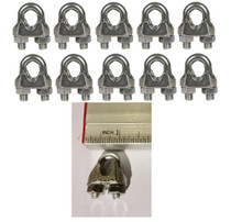 Cable Clamps 3/16 inch Galvanized 10 Pack U Bolts for Cable Wire Rope Batting Cage Cable Lines