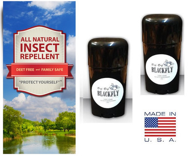 Bye Bye Blackfly All Natural Insect Repellent - Easy Apply Sticks Twists 2 Pack