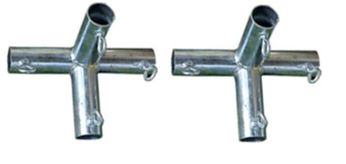 Mid section 4-way connectors for baseball batting cage frame kit