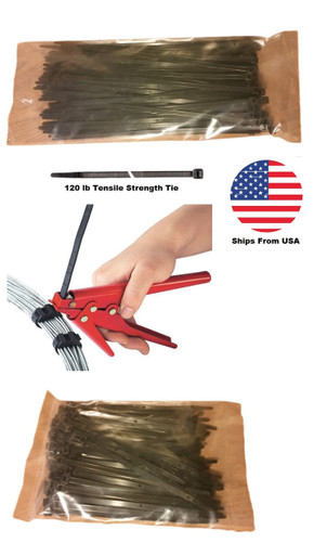 Heavy Duty Cable Tie Gun and Cable Ties