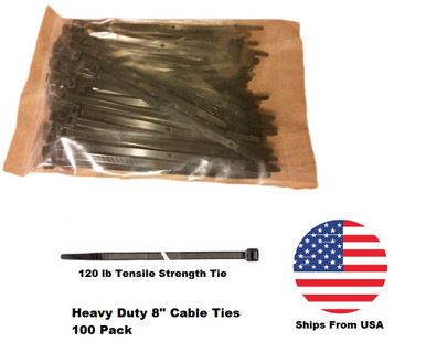 heavy duty cable ties zip ties 8 inch nylon with uv inhibitor 120lb tensile strength