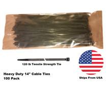 Heavy duty cable ties 14 inch zip ties 100 pack