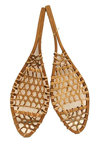 "snowshoe wall decor decoration 15"" wooden miniature snowshoes pair"