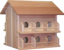 Cedar Martin House 12 Room Bird House