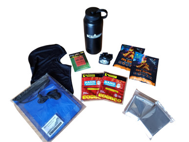 winter hiking gear emergency survival kit dog sledding gear