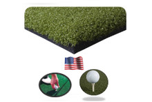 Premium golf mat hitting mat holds wooden tees and rubber tees - commercial golf mat