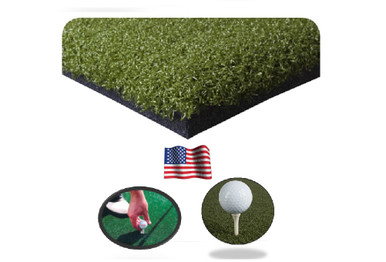 Premium golf mat hitting mat holds wooden tees and rubber tees - commercial golf mat