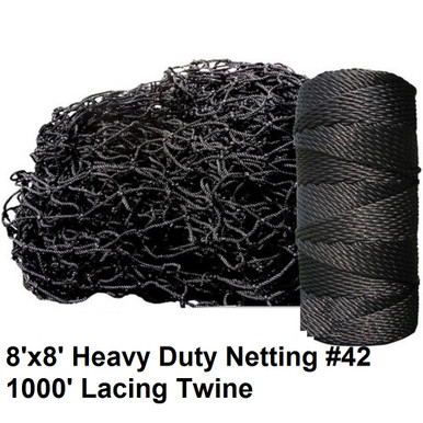 Baseball batting cage repair kit #42 (54 ply) with Lacing Twine