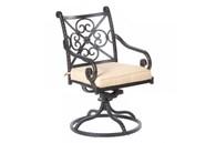 Roma Dining Swivel Rocker Cast Aluminum Antique Topaz