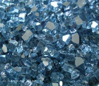 "1/4"" Fire Glass Pacific Blue 10 lb. bag"